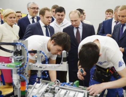Путин пообщался с финалистами четвертого Национального чемпионата рабочих профессий